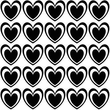 Black and White Hearts by kassandry31
