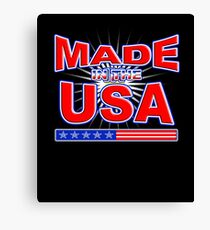 Made In America American USA Patriot Pride T-shirt Canvas Print