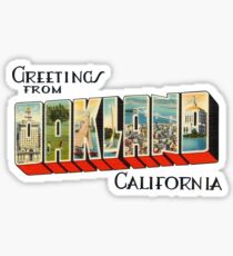 Greetings from Oakland, California 1 Sticker