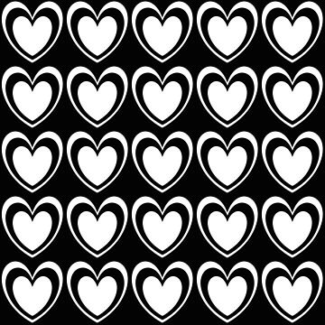 Black white romantic hearts 2 by kassandry31