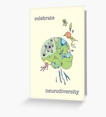 Celebrate Neurodiversity Poster Greeting Card