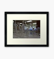 In the haze of the morning light Framed Print