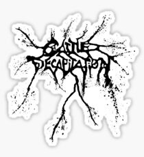 Band Cattle Decapitation Logo Black Sticker