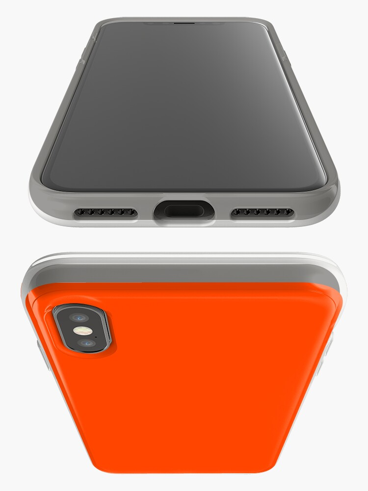 Alternate view of PLAIN ORANGE RED   SOLID COLOR ORANGE RED iPhone Case & Cover