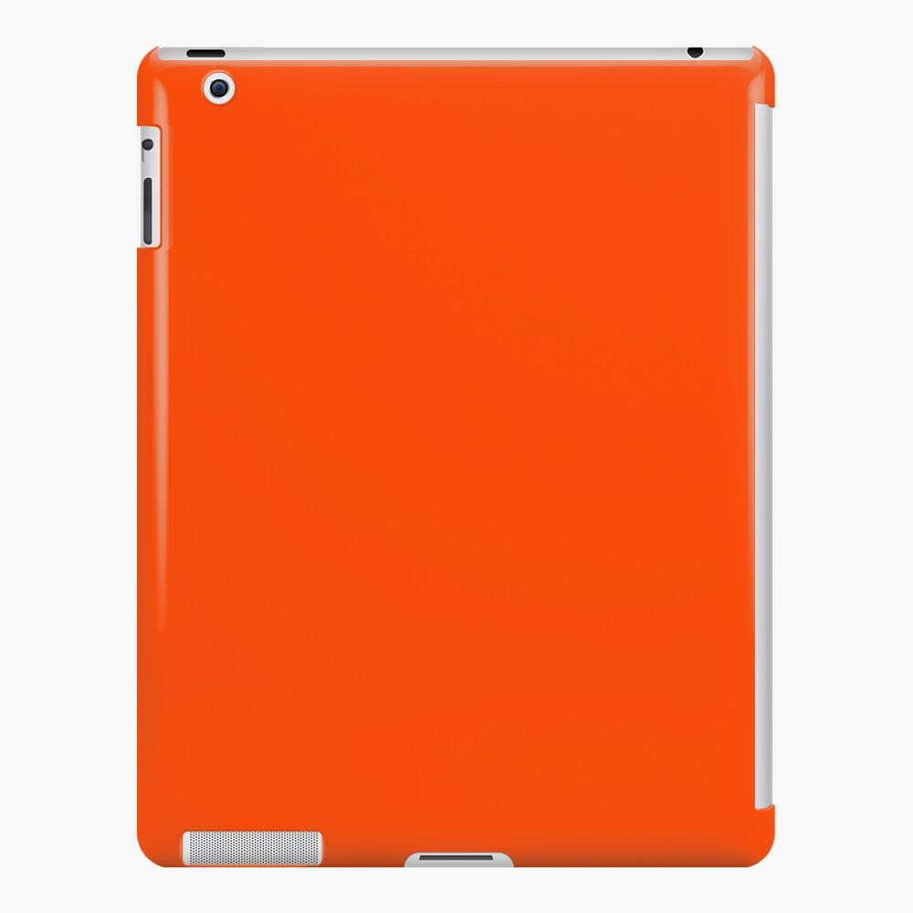 PLAIN ORANGE RED | SOLID COLOR ORANGE RED iPad Case & Skin