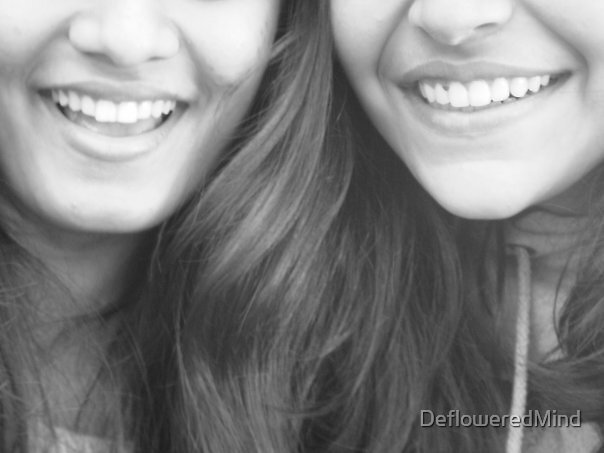 We smile and smile, Laughter echoes in our eyes  by DefloweredMind