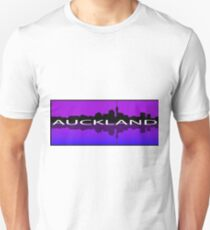 Auckland Reflection - Purple and Blue T-Shirt