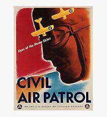 Vintage poster - Civil Air Patrol Photographic Print