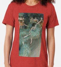 Swaying Dancer (Dancer in Green) by Edgar Degas Tri-blend T-Shirt