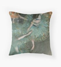 Swaying Dancer (Dancer in Green) by Edgar Degas Throw Pillow