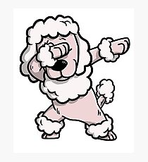 Dabbing Poodle Funny Photographic Print