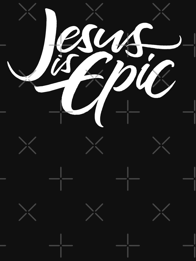 Jesus is Epic Lettering - Christianity Religious by 26-Characters