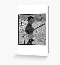 Little Great Man! Greeting Card
