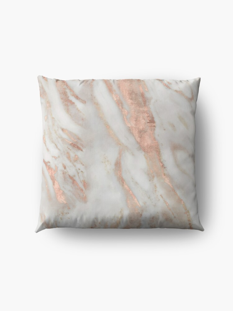 Alternate view of Civezza - rose gold marble Floor Pillow