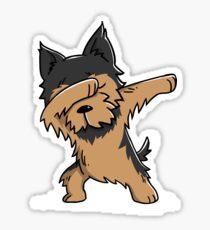 Dabbing Yorkshire Terrier Funny Yorkie Sticker
