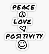 peace love and positivity logic Sticker