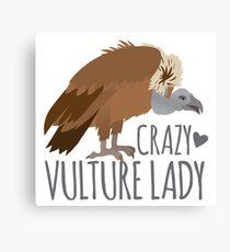 Crazy Vulture Lady Canvas Print