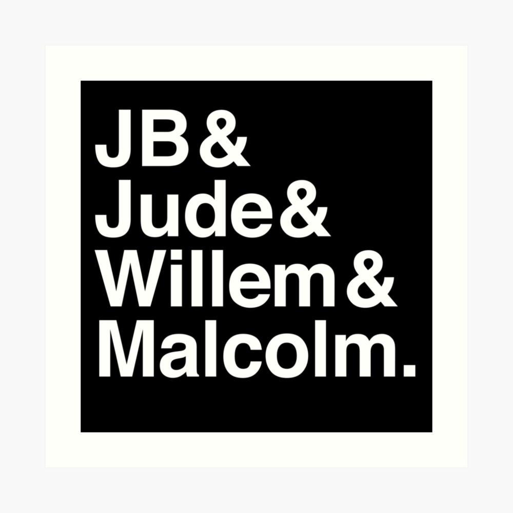 Ein kleines Leben Buch JB & Jude & Willem & Malcolm (in weiß) Kunstdruck