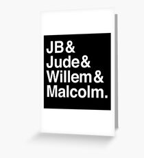 A LITTLE LIFE book JB & Jude & Willem & Malcolm (in white) Greeting Card