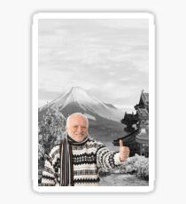 Hide Your Pain Harold In Japan Sticker
