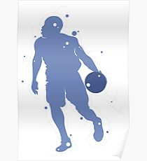 Basketball Silhouette 2 Poster