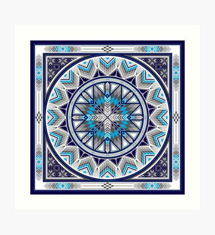 Sacred Places Blue  Art Print