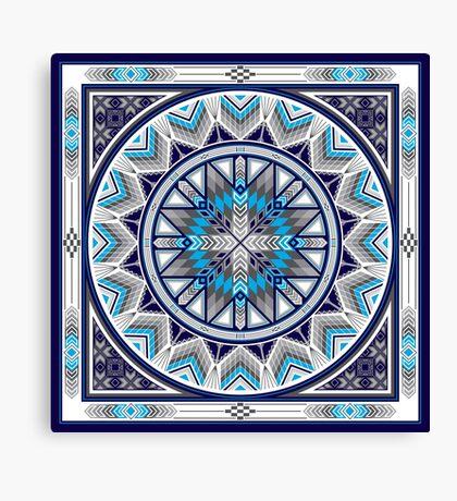 Sacred Places Blue  Canvas Print