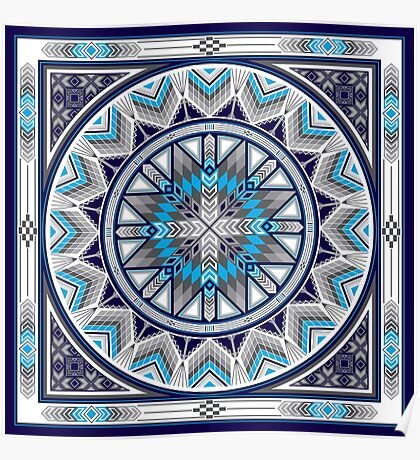 Sacred Places Blue  Poster
