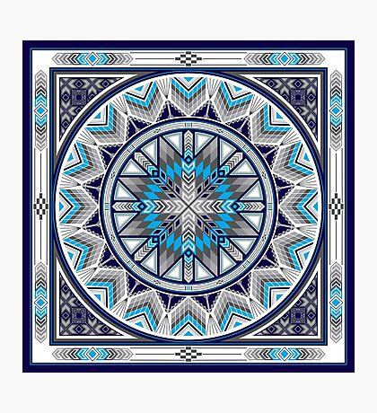 Sacred Places Blue  Photographic Print