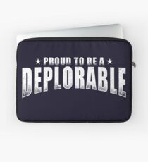 Proud to be a Deplorable patriot American flag Laptop Sleeve