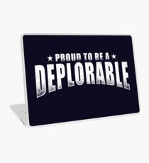 Proud to be a Deplorable patriot American flag Laptop Skin