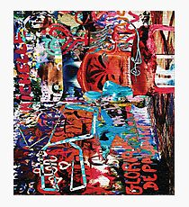 Picasso Graffiti Mashup 3 Photographic Print