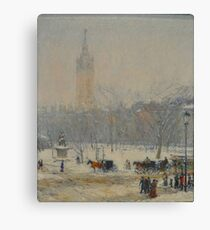 Snowstorm Madison Square Childe Hassam Canvas Print