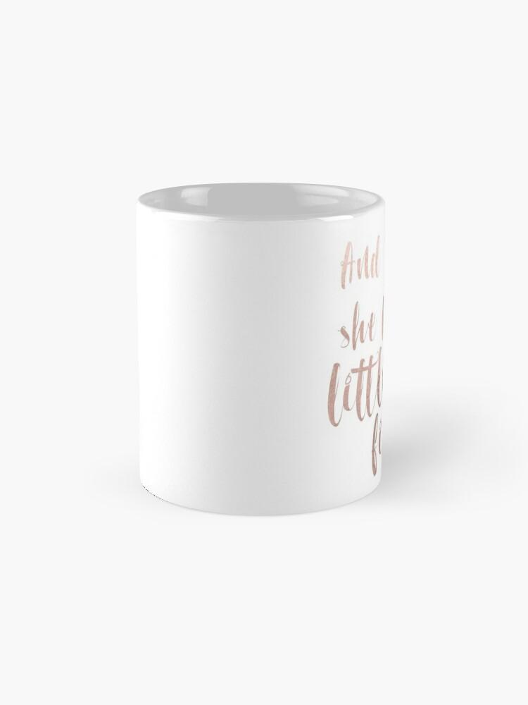 Alternative Ansicht von Obwohl sie nur wenig ist, ist sie wild - Roségold Tasse