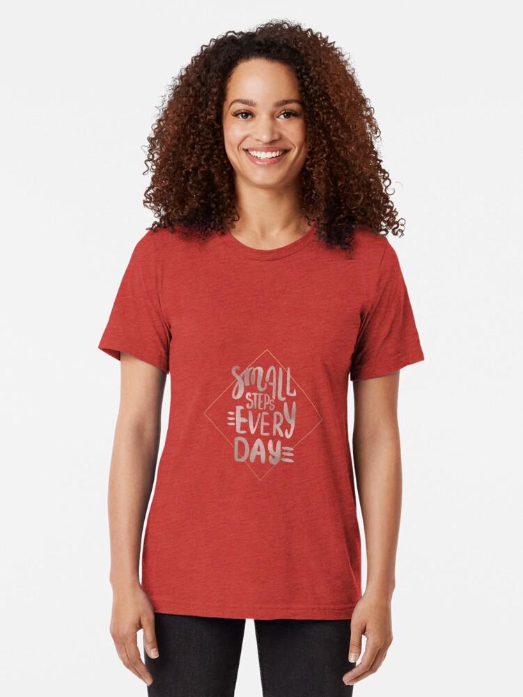 Alternative Ansicht von Kleine Schritte - Roségold-Zitat Vintage T-Shirt