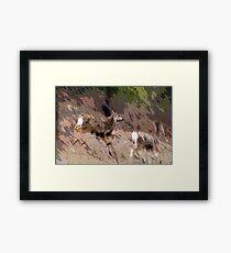 Bounding Deer Framed Print