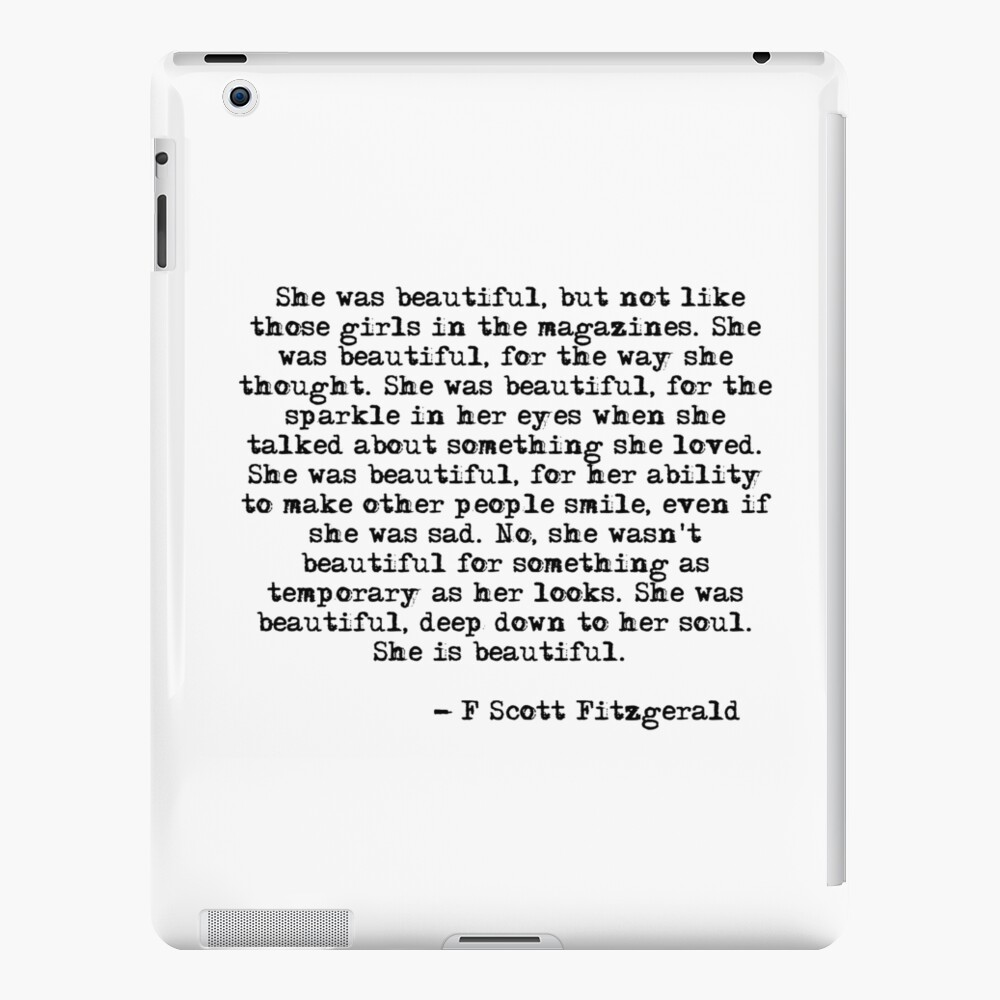 She was beautiful - F Scott Fitzgerald iPad Case & Skin