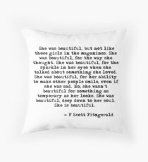 She was beautiful - F Scott Fitzgerald Throw Pillow