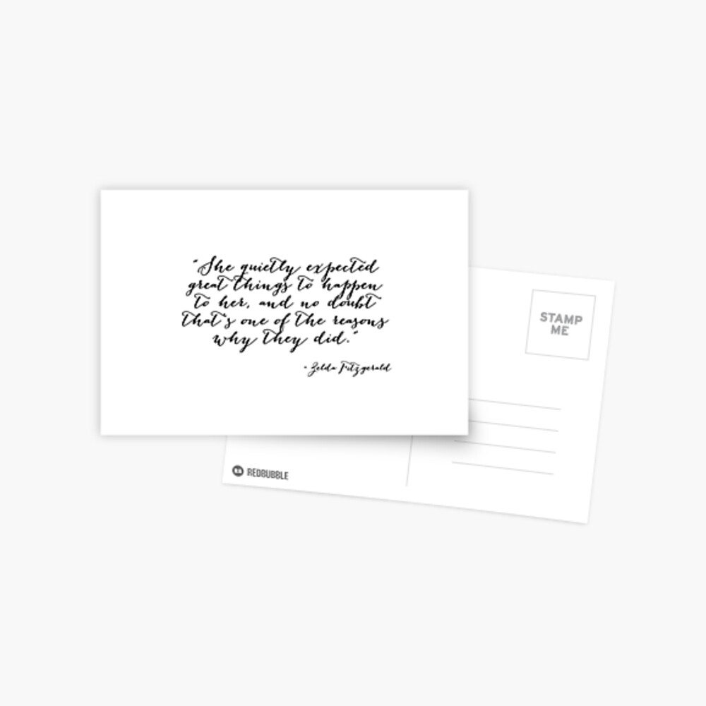 She quietly expected great things Postcard