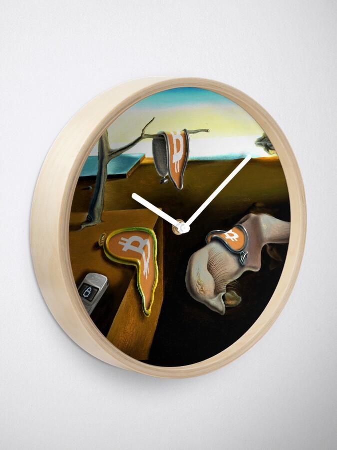 Alternate view of Melting Bitcoin  Clock