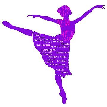 Ballerina Happy New Year  by Manitarka