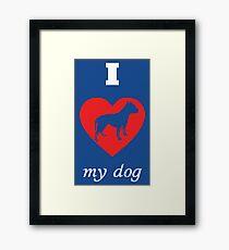 Pit Bull Terrier - I Love My Dog Framed Print