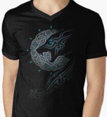 Ragnarok-Mond T-Shirt mit V-Ausschnitt