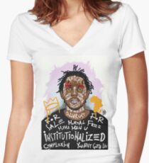 Kendrick Lamar Women's Fitted V-Neck T-Shirt