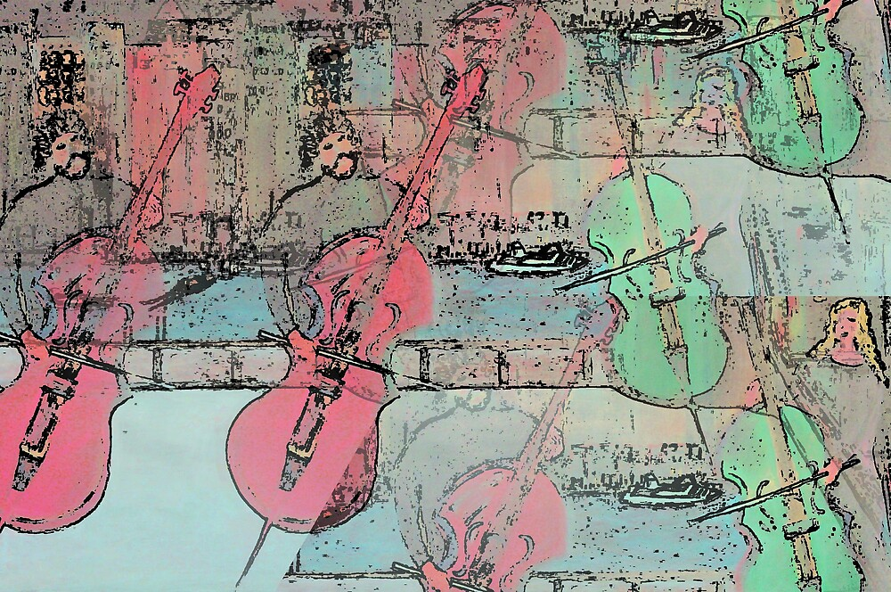 The  Heavenly Music of  Cello  Players   by fiat777