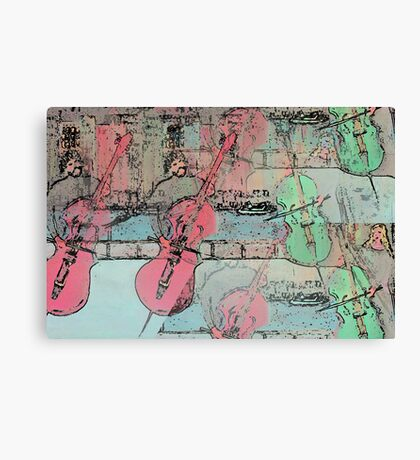 The  Heavenly Music of  Cello  Players   Canvas Print