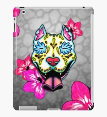 Slobbering Pit Bull - Day of the Dead Sugar Skull Pitbull Dog iPad Case/Skin