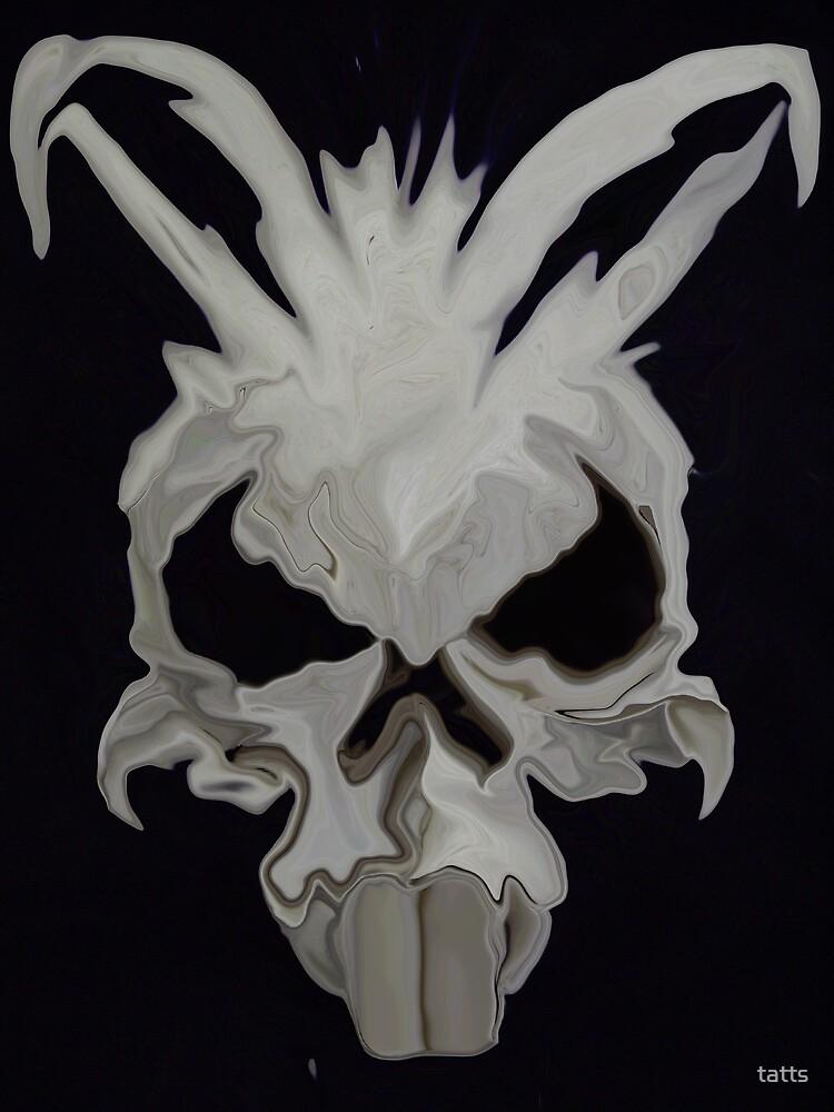 Angry Bunny skull by tatts