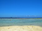 sand meets ocean, ocean meets sky by moguesy