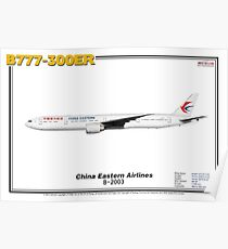 Boeing B777-300ER - China Eastern Airlines (Art Print) Poster
